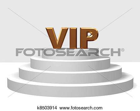 Drawings of golden vip on a pedestal k8503914.