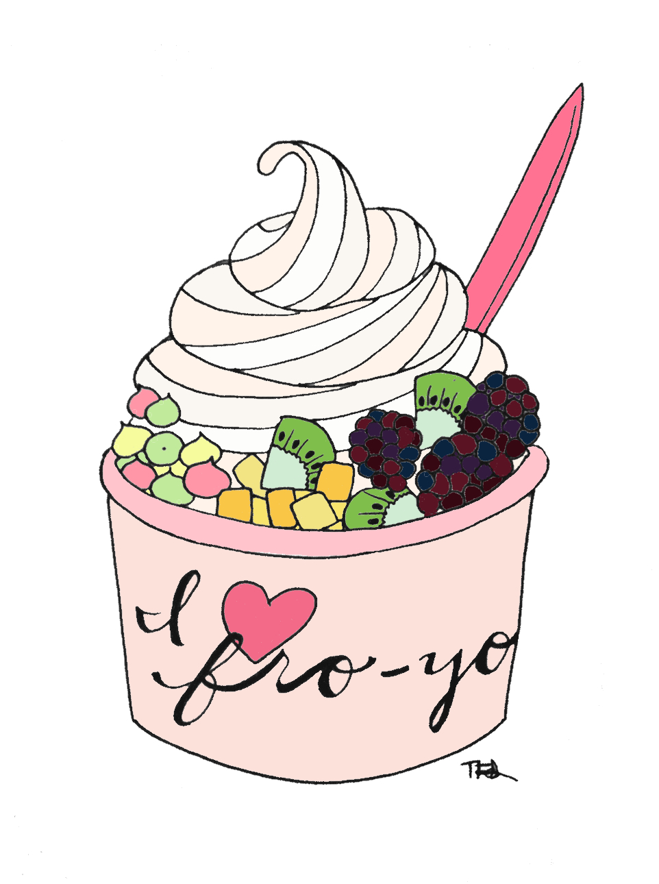 Yogurt ice cream clipart tumblr clipart pie cliparts.