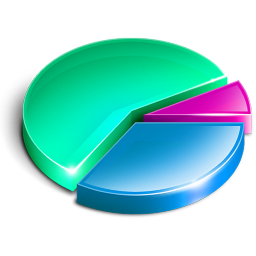 Pie Chart Icon, PNG ClipArt Image.