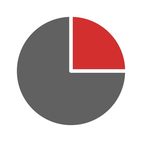 Pie Chart Icon Design.