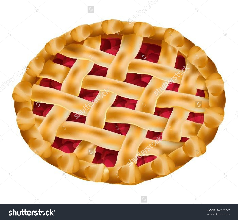 Whole Cherry Pie Clipart.