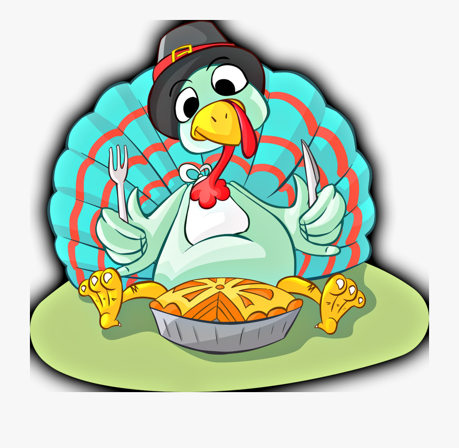 Turkey Eating Pumpkin Pie , Transparent Cartoon, Free.