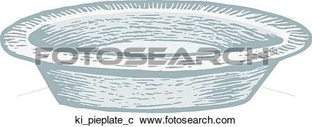 Clipart of Pie Plate ki_pieplate_c.