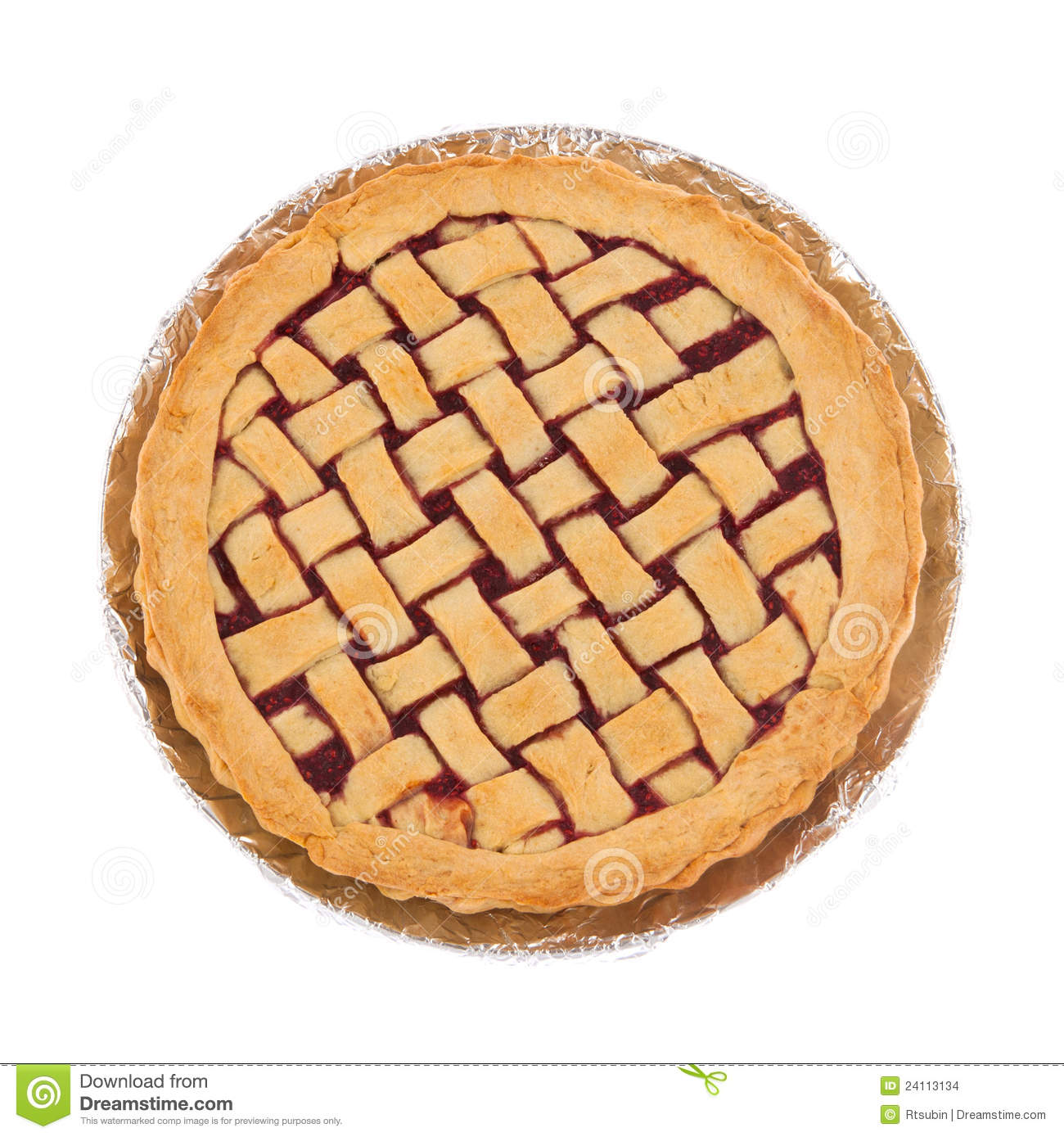 Raspberry Pie On A Plate Stock Images.