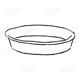 A Beka Book :: Clip Art :: Round Pie Pan.