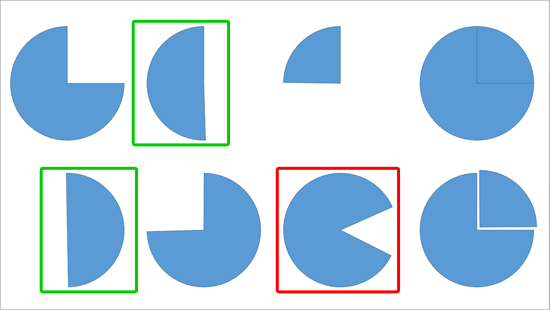 Working with Pie Shapes in PowerPoint.