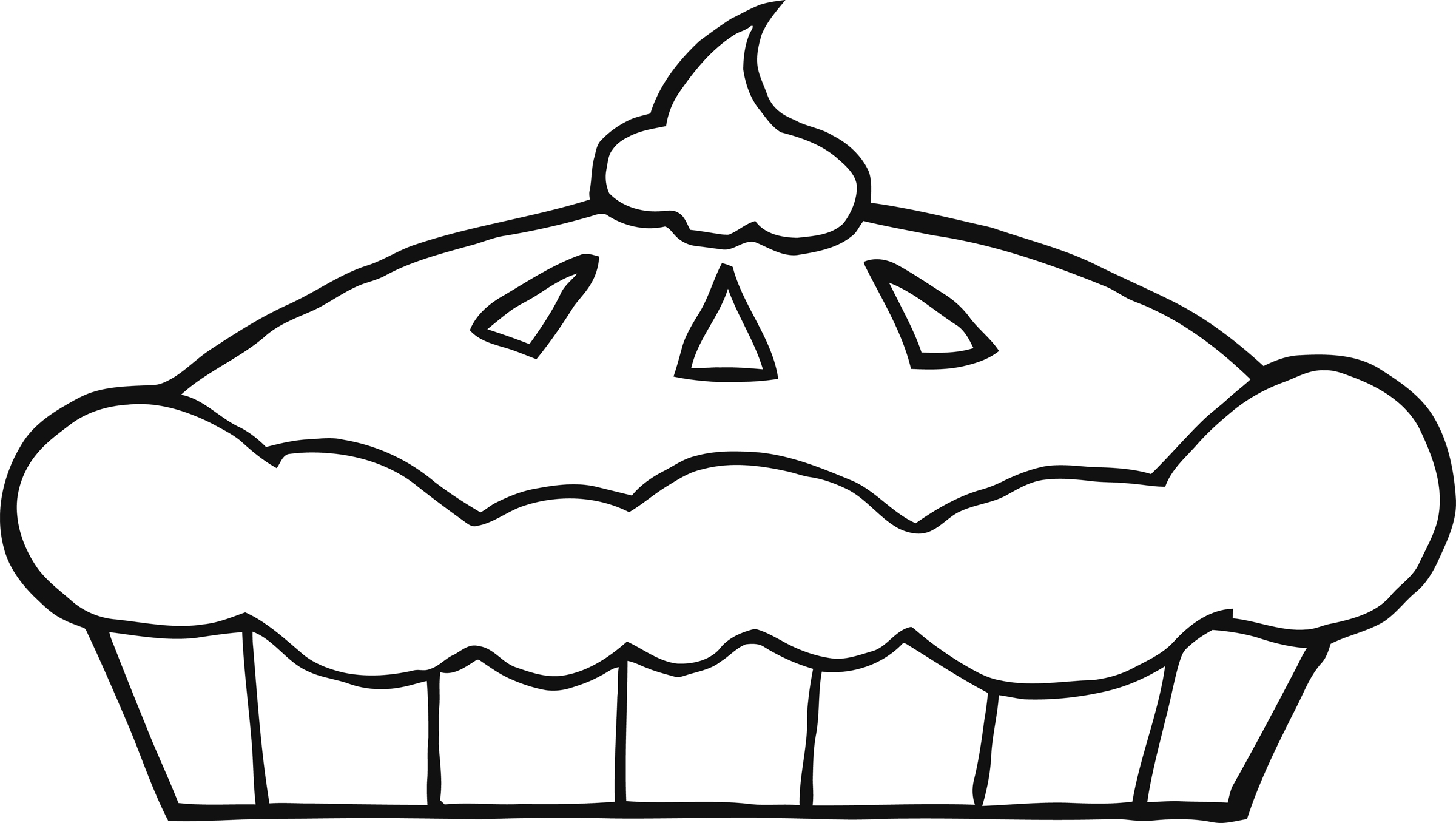 Black And White Pies Clipart.