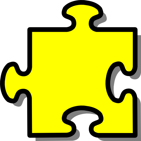 Puzzle piece clipart #9