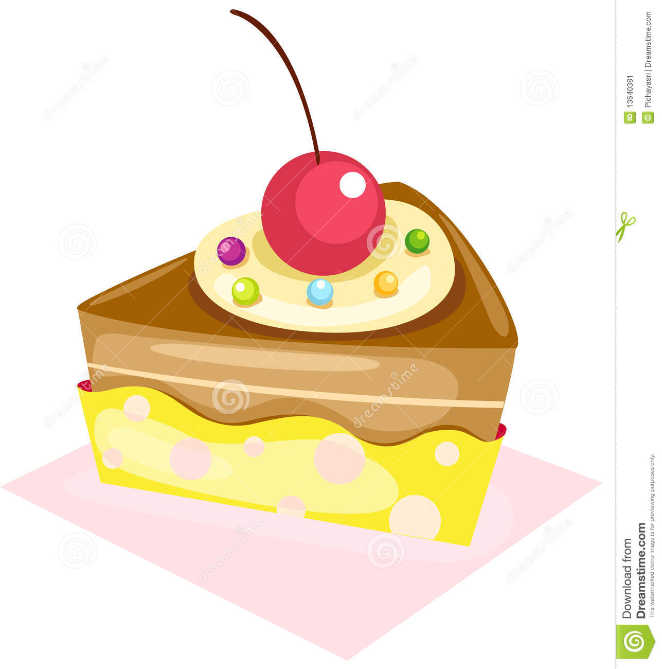 Idiom Piece of Cake Clip Art.