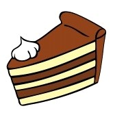 Piece of cake clip art.
