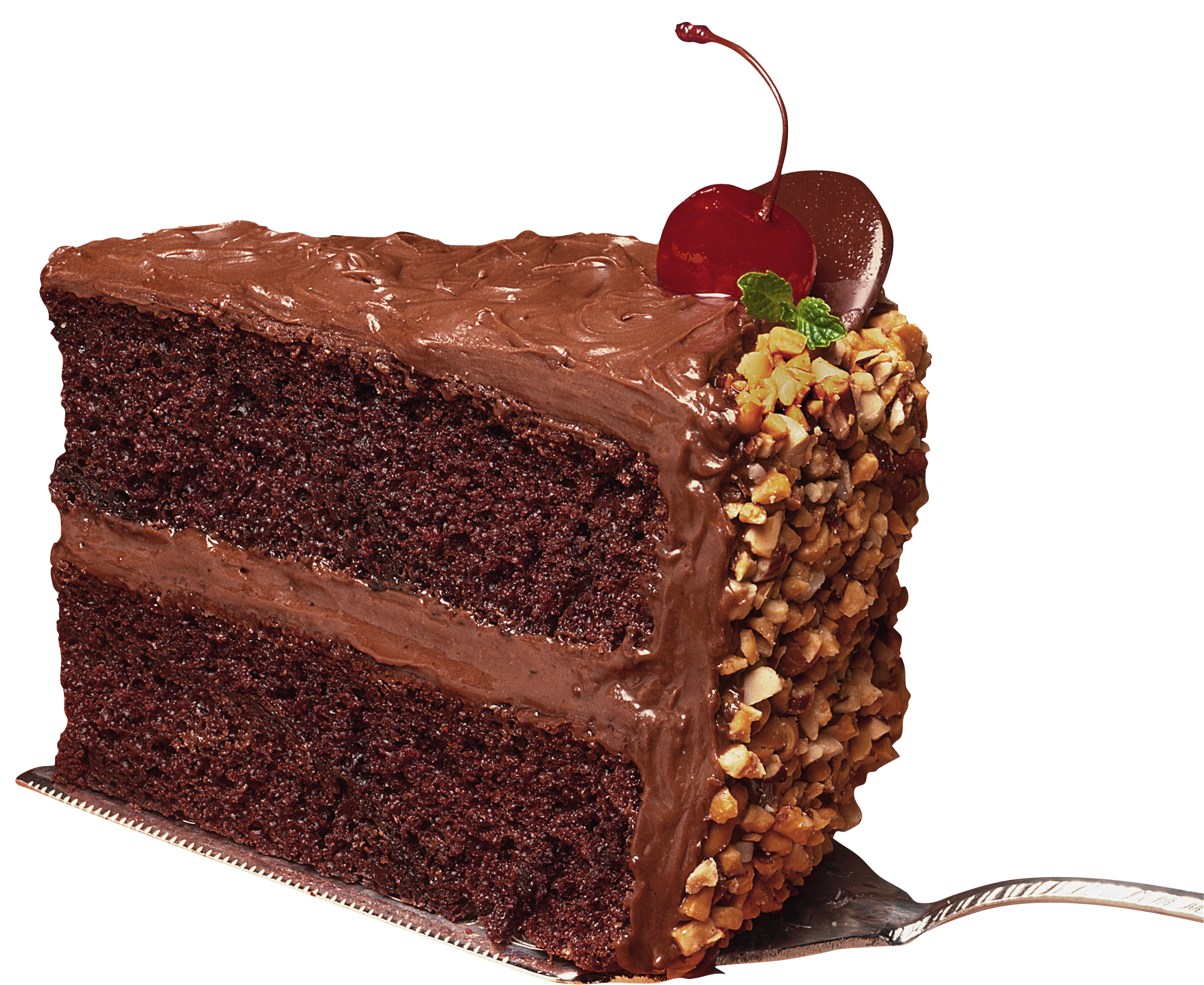 Slice of Chocolate Cake PNG Picture.