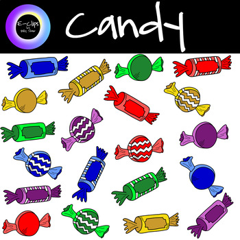 Candy Clipart 24 Pieces.