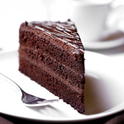Slice Of Chocolate Cake.