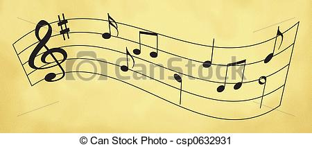 Clipart of sheet music.