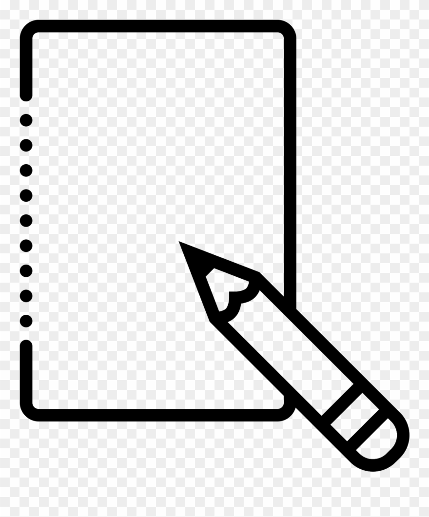 It\'s The Image Of A Piece Of Paper, With A Writing Clipart.