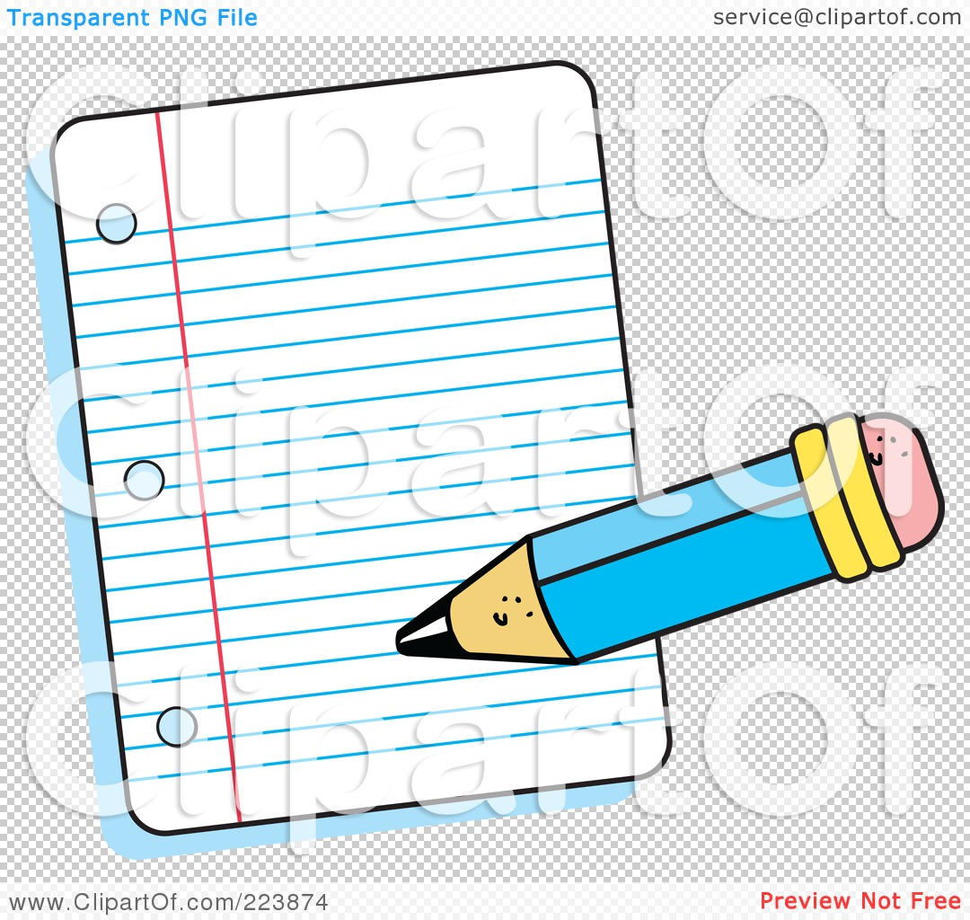 Pencil Writing On Paper Clipart.