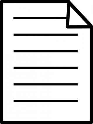 Piece Of Paper With Writing Clipart.