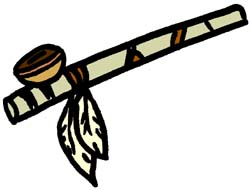 Indian Peace Pipe Clipart.