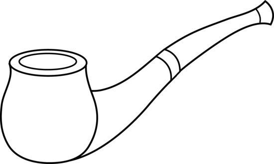 Tobacco pipe clipart.