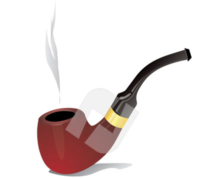 Smoking pipe clipart.