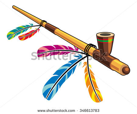 Indian Peace Pipe Stock Photos, Royalty.