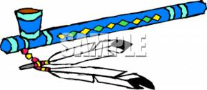 Clipart Illustration of a Peace Pipe.