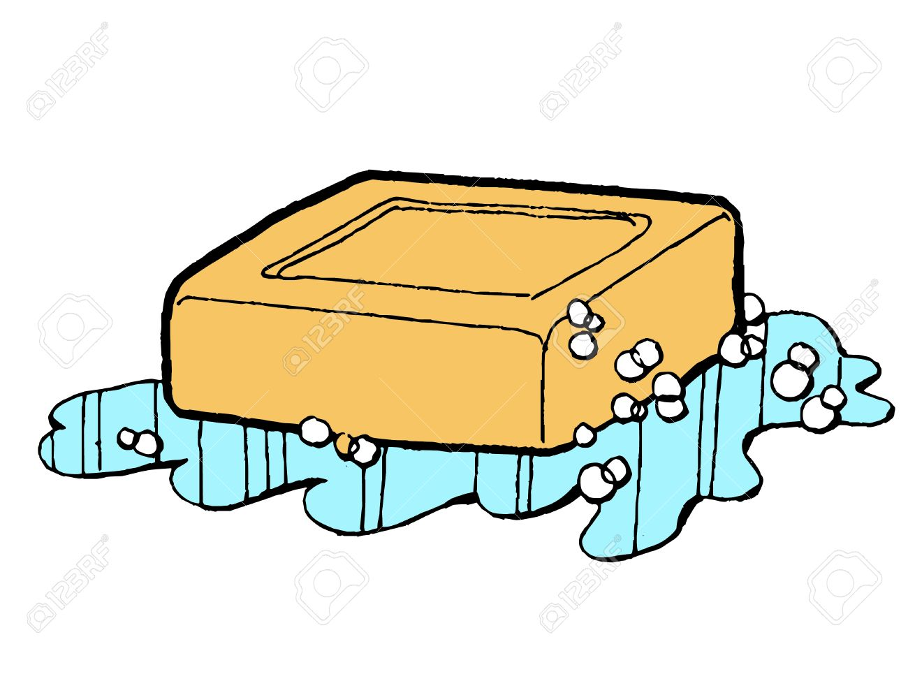 Soap and water clipart images.