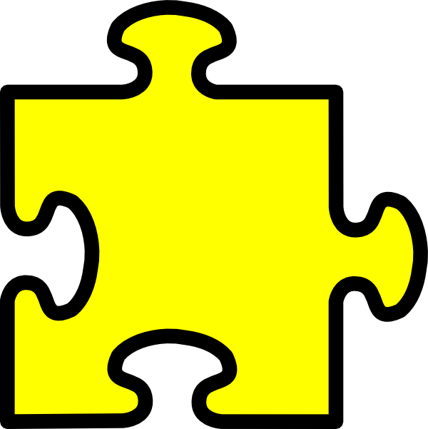 Yellow Puzzle Piece Clip Art at Clker.com.