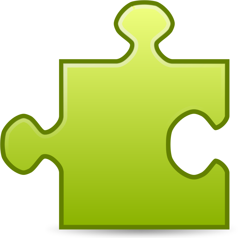 Clipart of puzzle pieces.