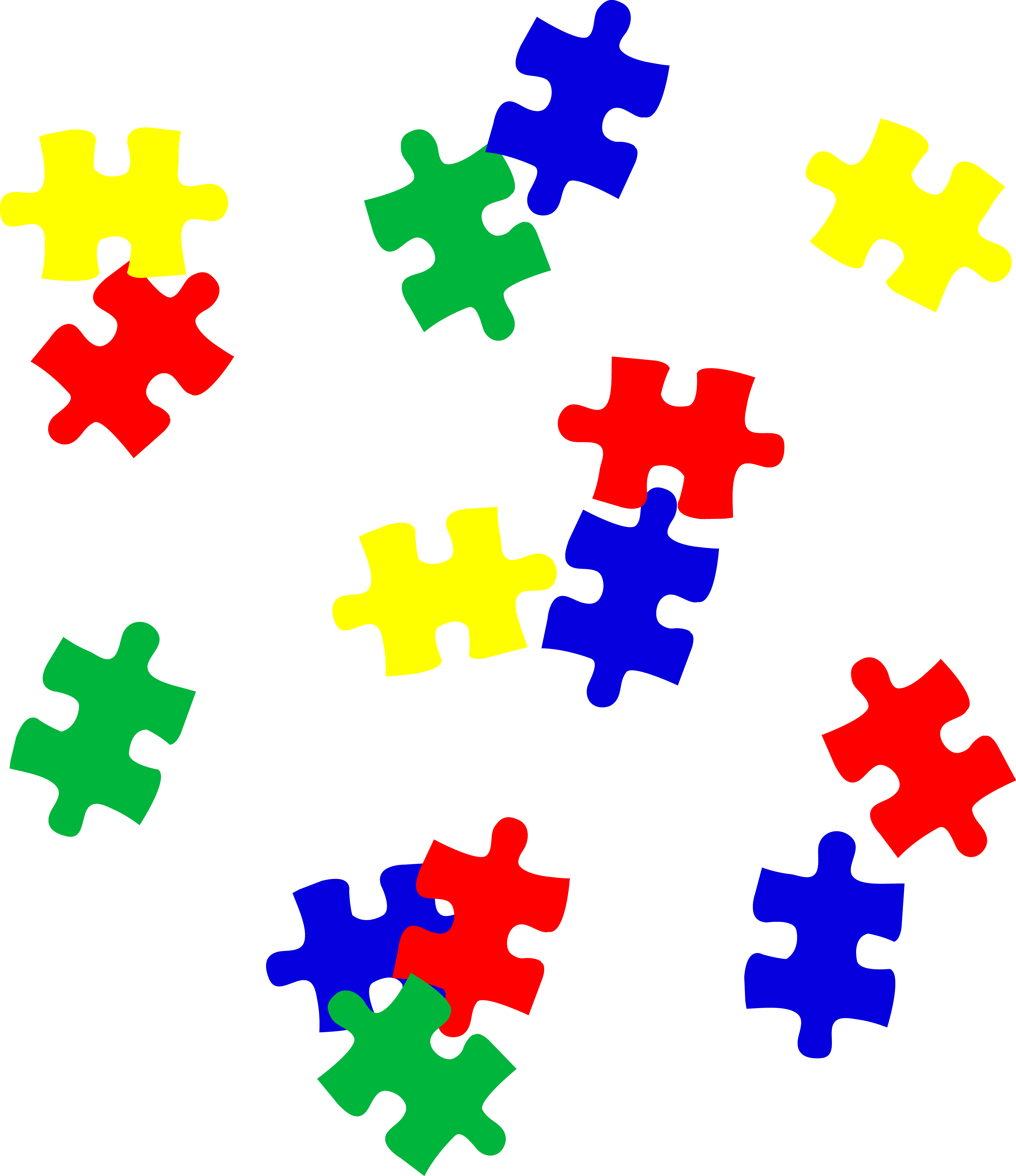 Puzzle Pieces Clipart.