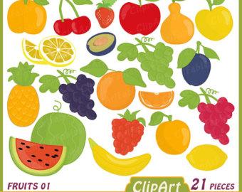 Happy fruit clipart.