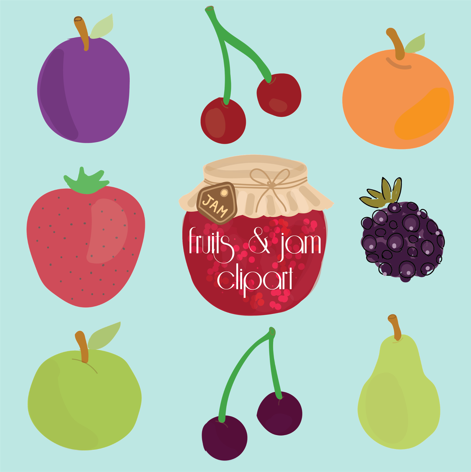 Free Fruit Clipart!.