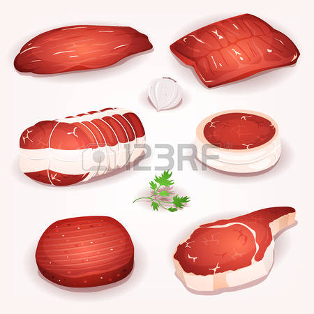 3,718 A Piece Of Meat Stock Vector Illustration And Royalty Free A.