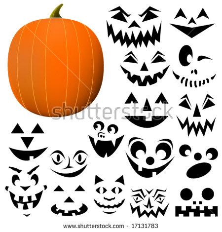 Build Your Own Jackolantern Pumpkin Face Stock Vector 17131783.