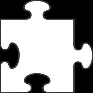 White Border Puzzle Piece Top clip art.