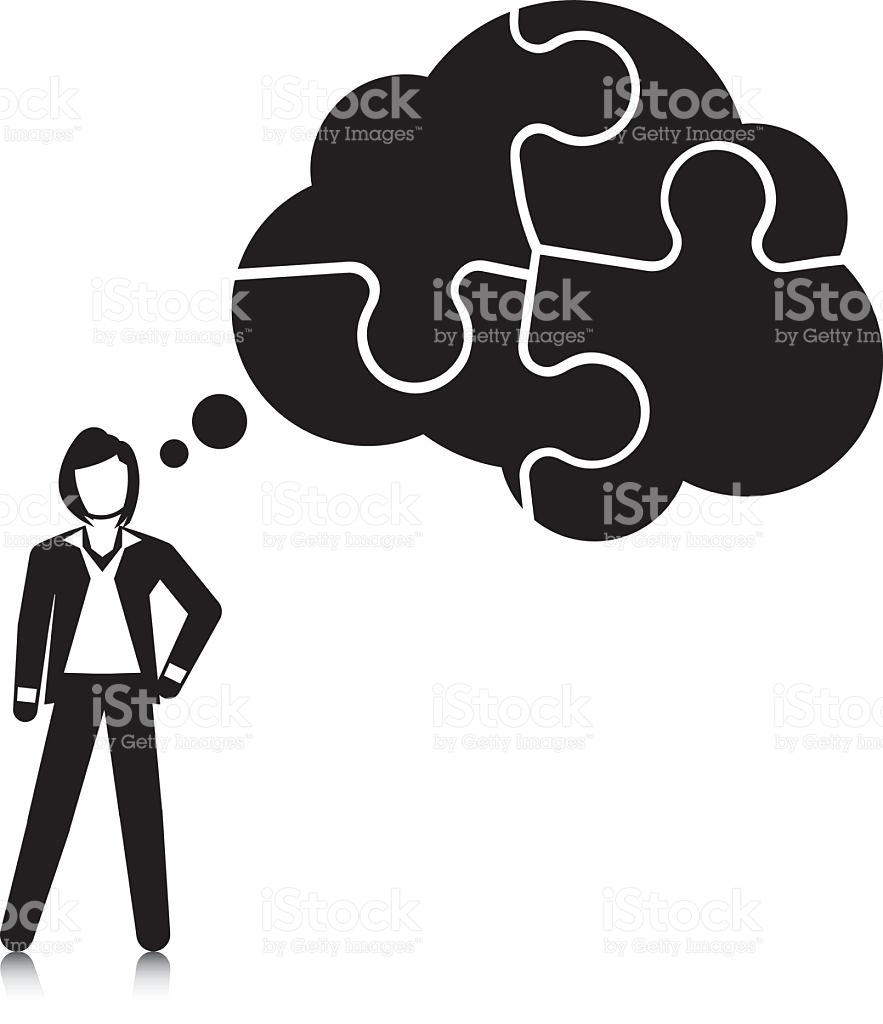 Piecing Together A Concept stock vector art 465524773.