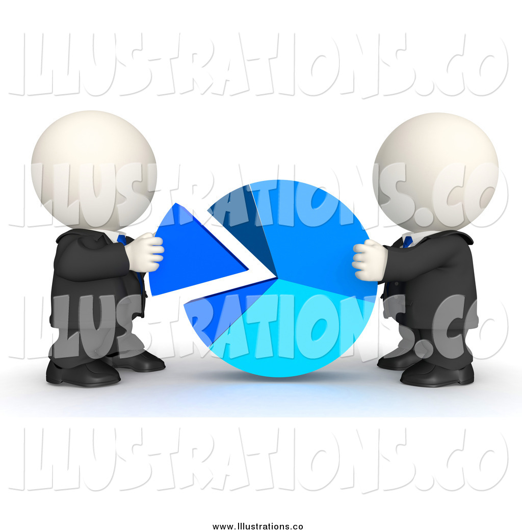 Royalty Free Stock Illustration of 3d White Business Men Piecing.