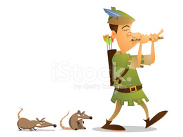 Pied Piper stock vectors.