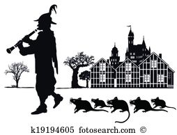 Pied piper Clip Art Illustrations. 7 pied piper clipart EPS vector.