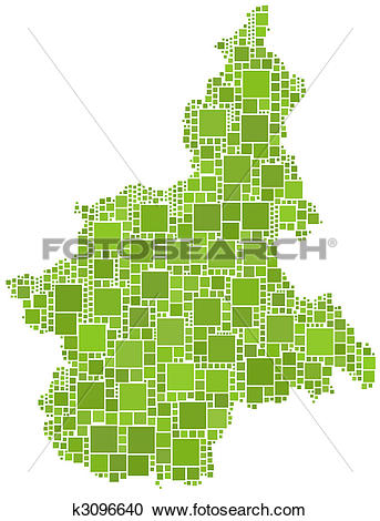 Clipart of Map of Piemonte (Italy) k3096640.