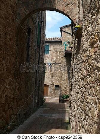 Stock Photographs of The town of Pienza is a small pearl in the.