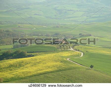 Stock Photograph of Tuscany, Toscana, Italy, Pienza, Europe.