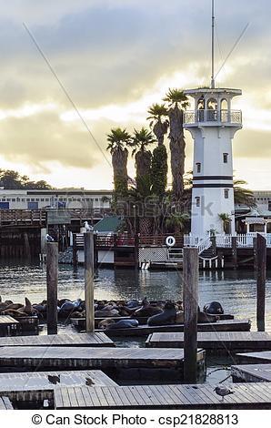 Stock Photography of Pier 39, San Francisco, California.