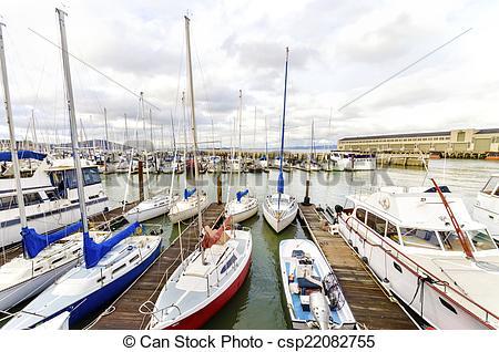 Stock Images of Pier 39 Marina, San Francisco.