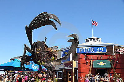 Famous Pier 39 At Port Of San Francisco Editorial Stock Photo.