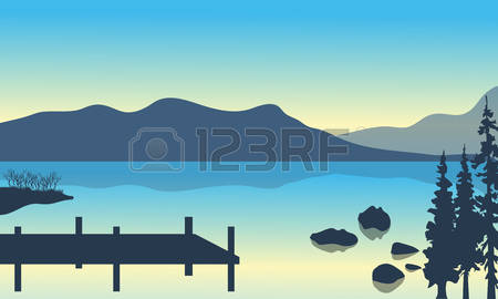 521 Lake Pier Stock Vector Illustration And Royalty Free Lake Pier.