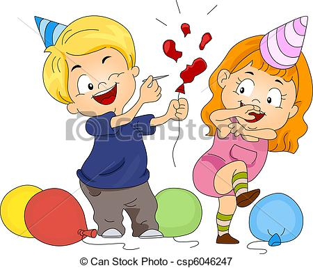 Balloon Pop Clipart.