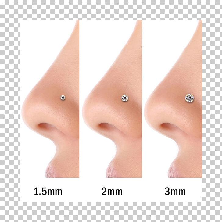Pendiente nariz piercing cuerpo piercing diamante, nariz PNG.