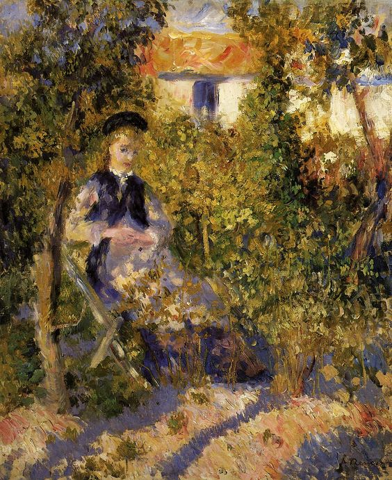 Nini in the Garden Pierre Auguste Renoir.