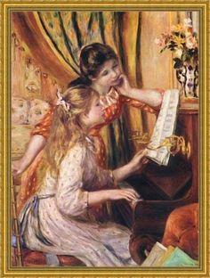 Renoir__Girls_at_the_Piano clip art di quadri_famosi.